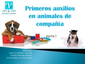 Primeros auxilios en animales de compañía. Parte I